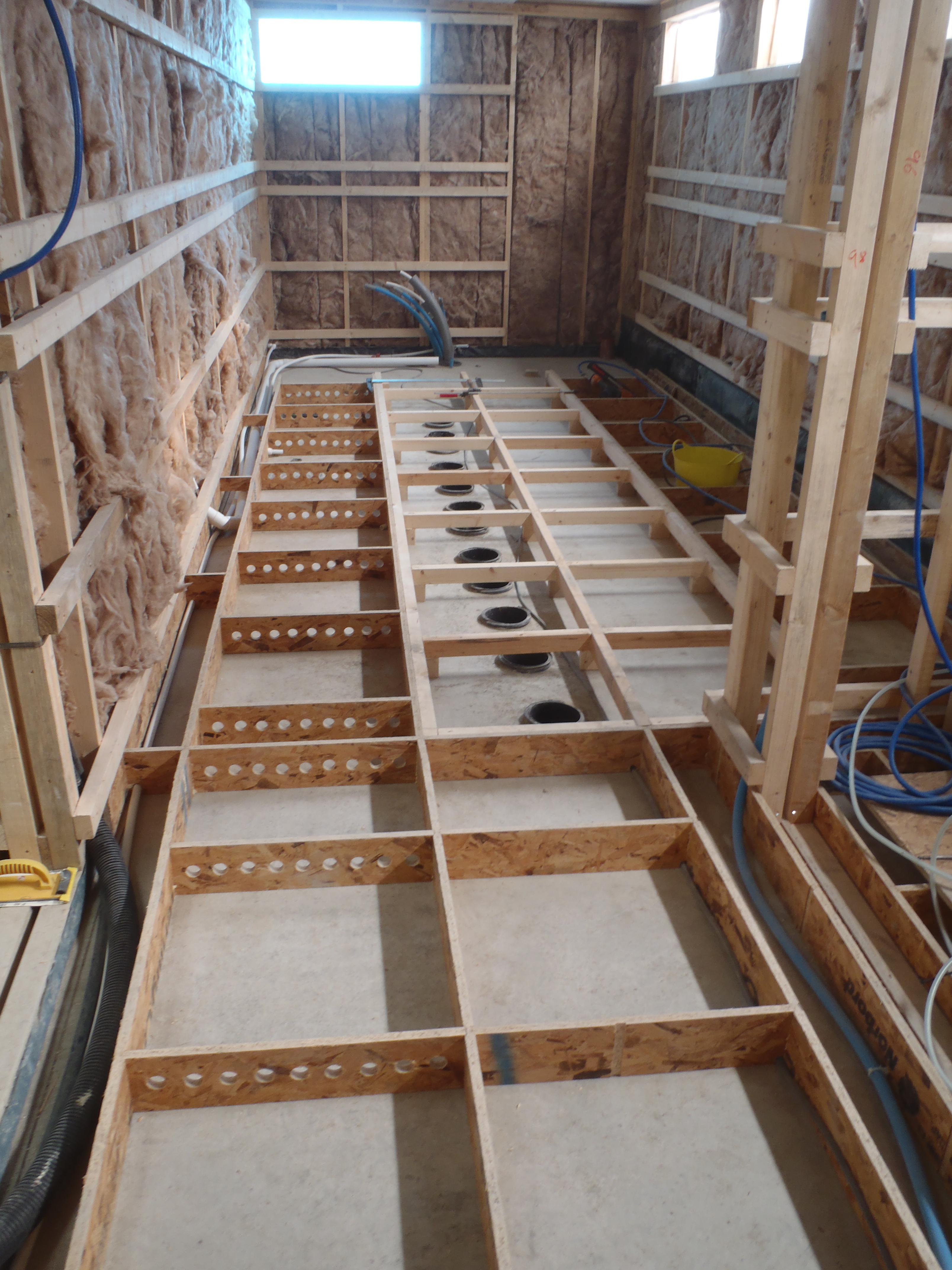 Garden Room Floor Framing