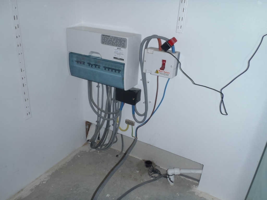 New electricity point before cable installed