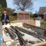 Hazardous Asbestos Panels all in Skip