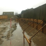 Rain Washes Fence and Shoring Panels Down!