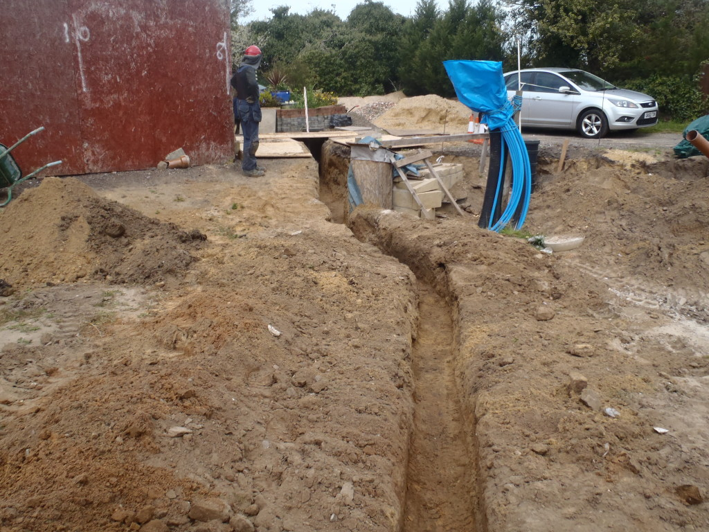 Second-pipe-run-dug-out