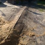Constructed a Berm Across Driveway