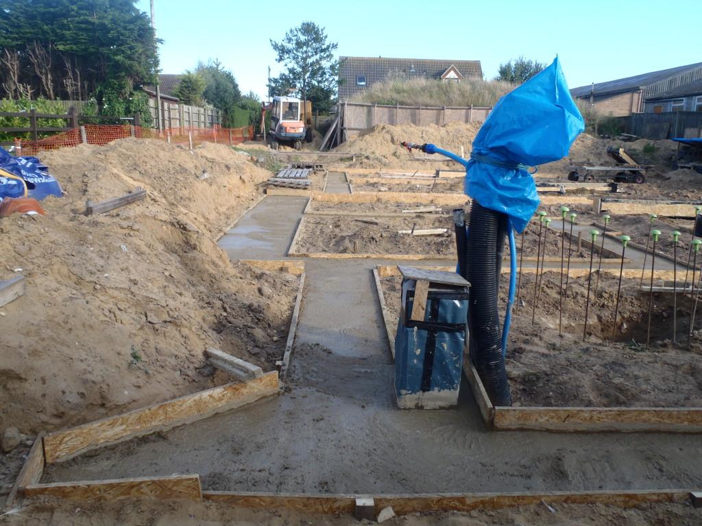 Foundation Concrete Is Poured Roselea