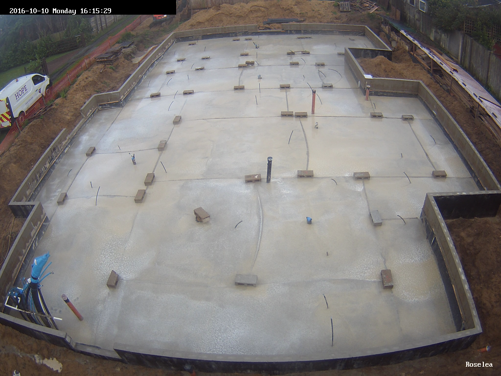 Floor Slab Is Poured Roselea