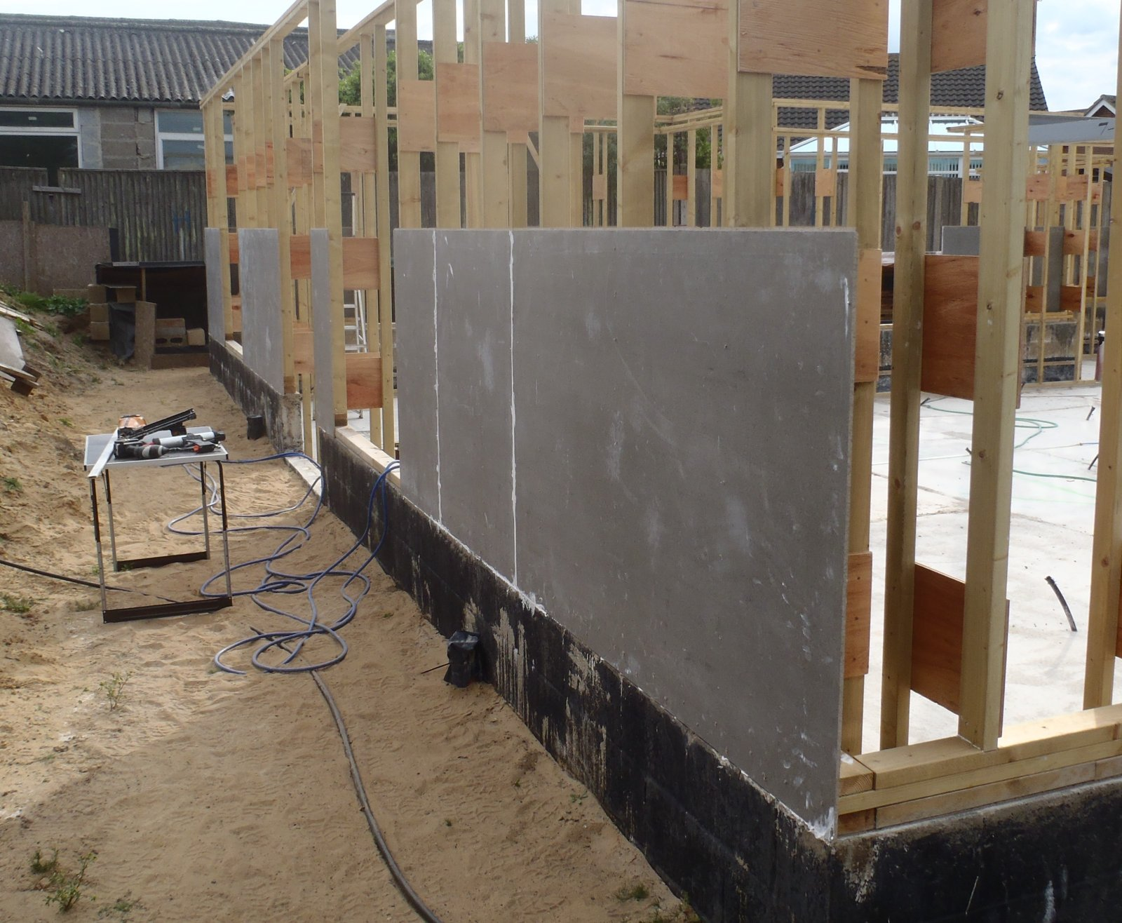 Cement Board Planks : Cement board skin on external wall almost done roselea