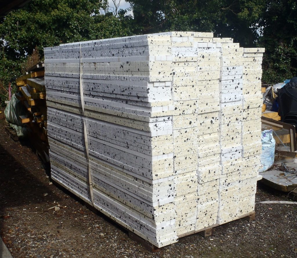 Sliced Polystyrene Sheets into Strips