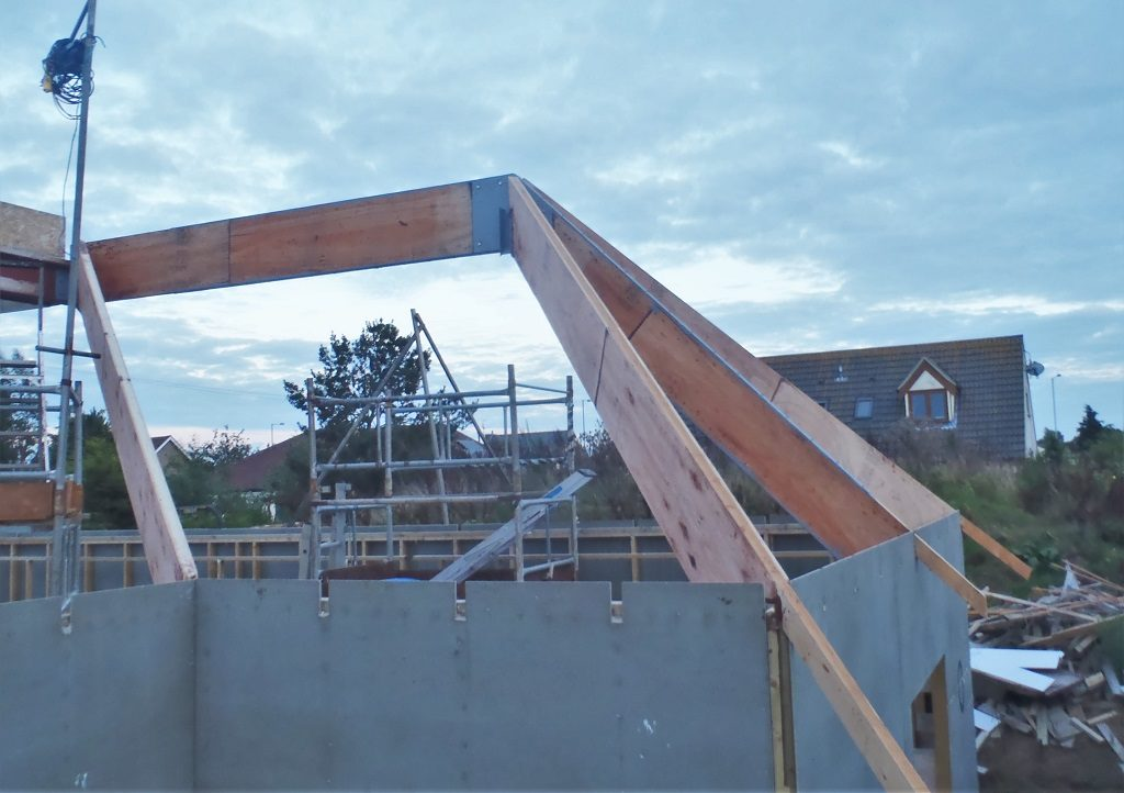 The Final LVL Diagonal Rafters are Up and Installed!