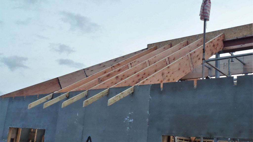 More Rafters Created and Some Were Hoisted Up!