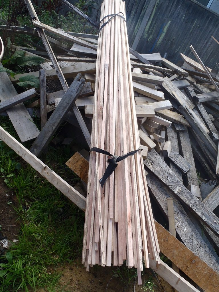 Waste-strips-from-plywood-cutting
