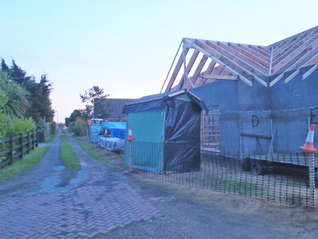 Repairs To Tarpaulin Covers Over Timber and Boundary Fence Replaced