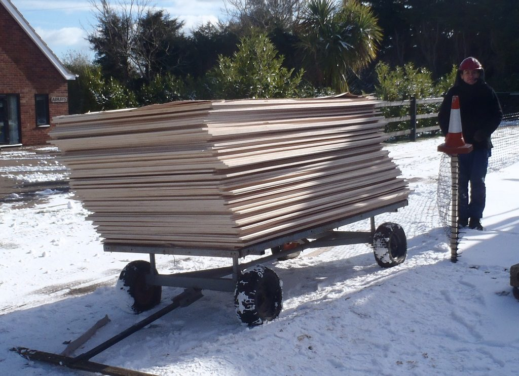 Pretty Plywood Arrives and Five More Rafters Created