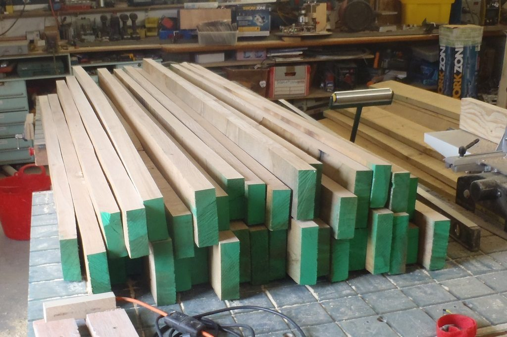 Some of the Oak Timber Planed on One Edge