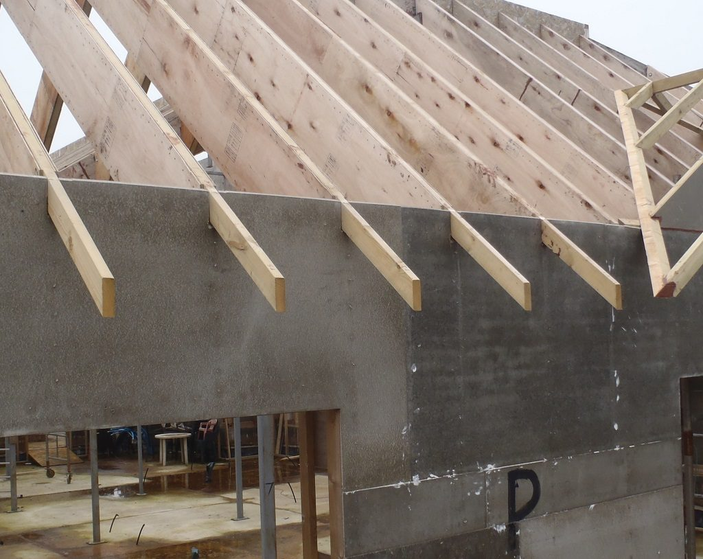 Cement Board Planks : Cement boards get their top edge trimmed down to the