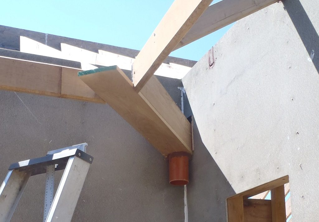 Downpipe Channels Installed and Side Porch Fascia Mounted