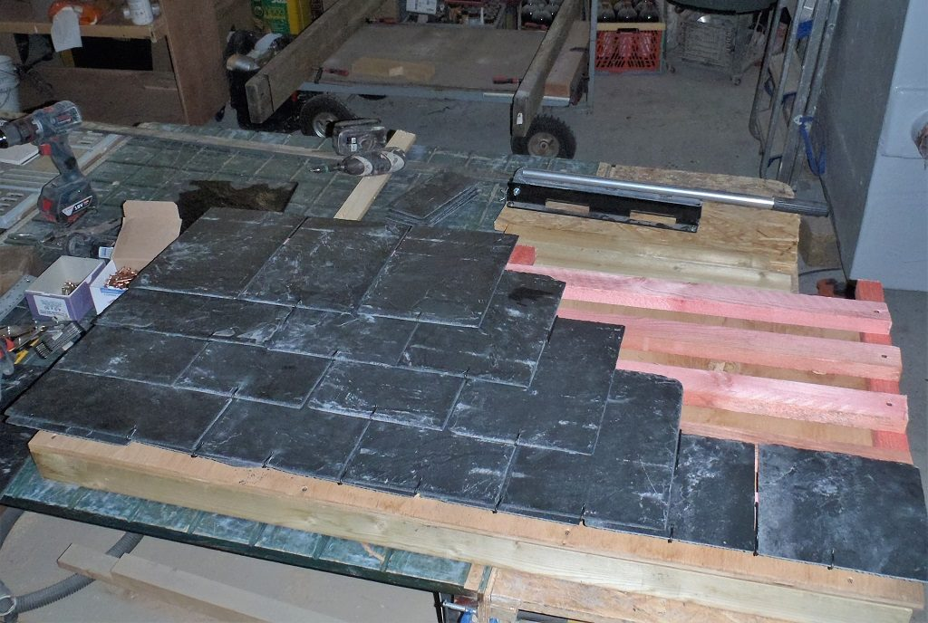Trial Run in Working with our Slate Tiles