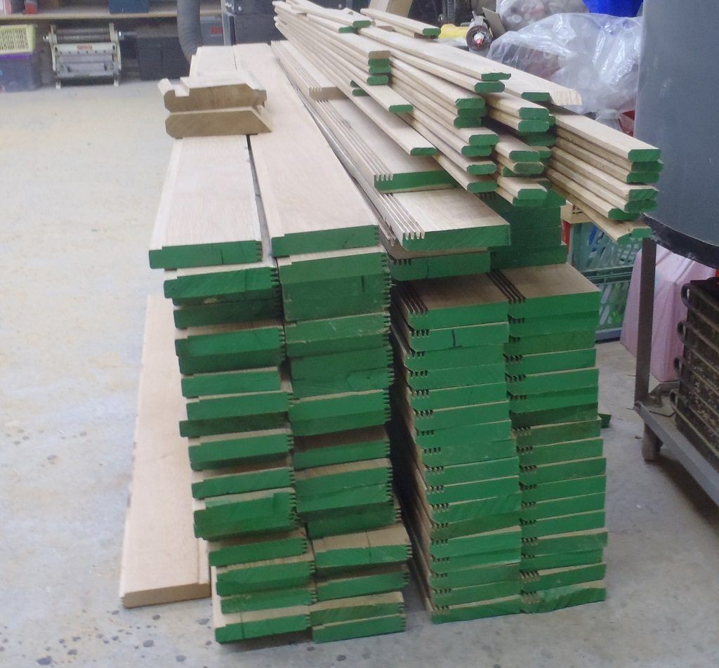 Processing Oak Timber to produce Guttering pieces