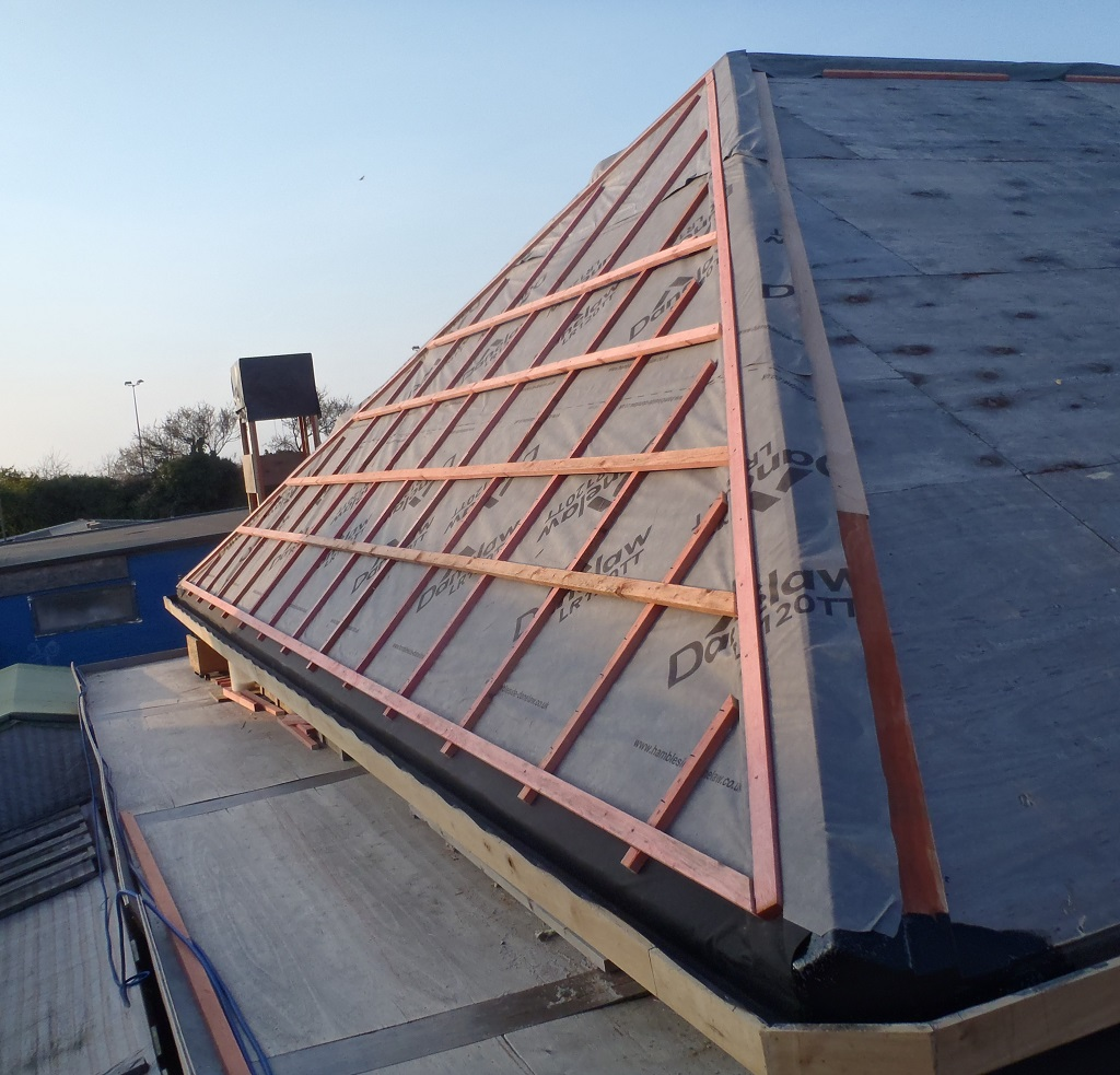 Section J Fully Covered In Slates K All Battened Up And