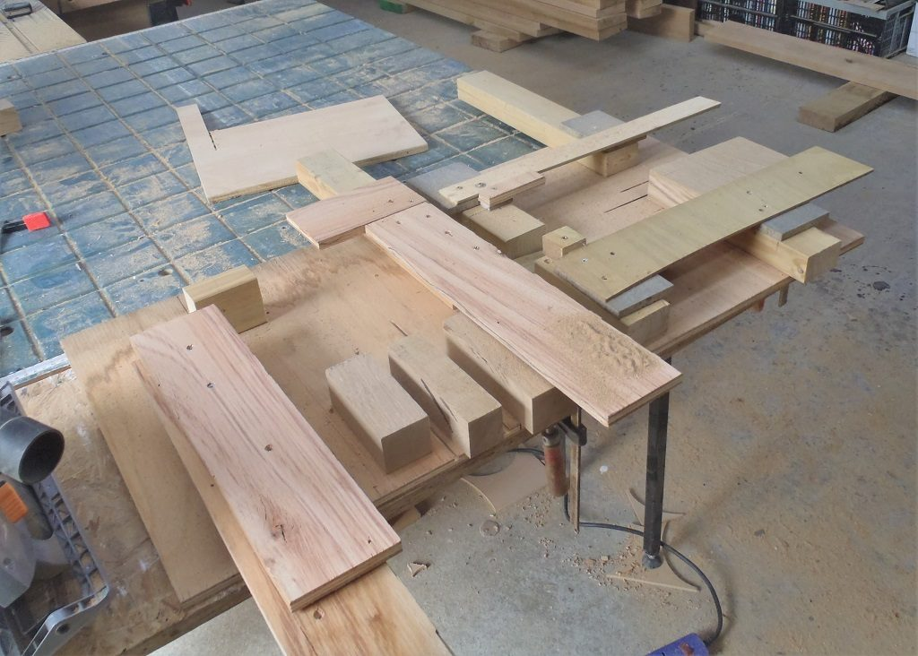 Continuing with P-Q roof and P-A Corner plus Progress on Oak Window Sills and Headers