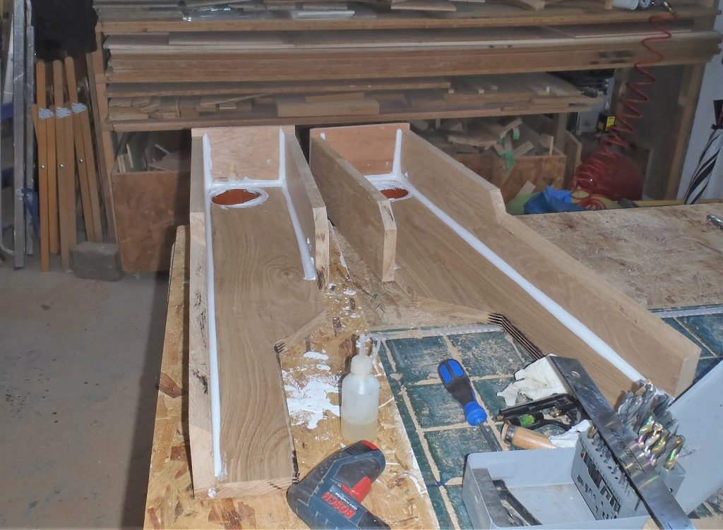 Gable Roof Extended, Two Downpipe Channels Created and Resumed Preparing the P Section of Roof