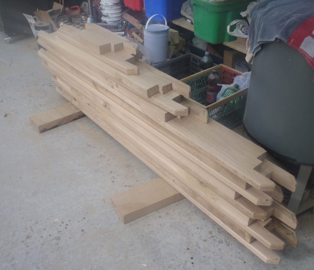 Finished off the Oak Sills and Headers for the 13 Windows