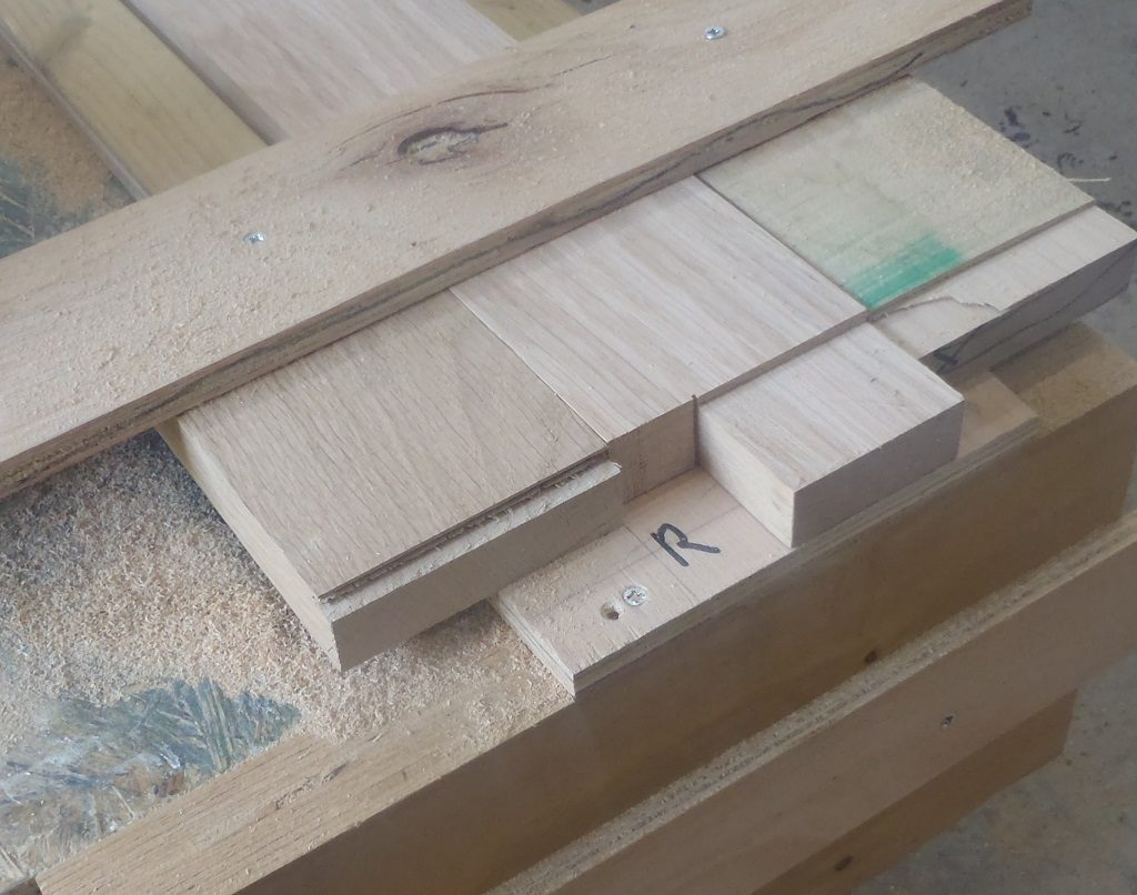 26 Oak Vertical Pieces Produced for 13 Windows