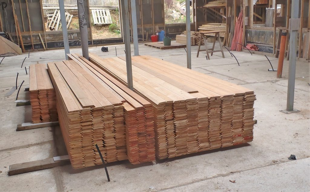 The Larch Timber for Wall Cladding Arrives