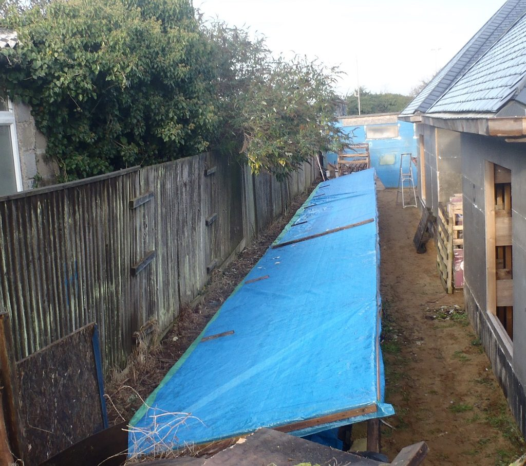 Performed Site Tidy-up and Maintenance plus Preparation and Spraying Black Paint Under the Eves