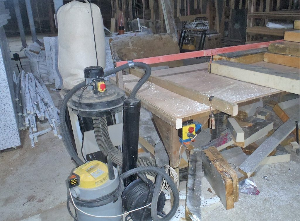 Foam Board Slicer Created and Started Putting Insulation into Walls around Entertainment Room