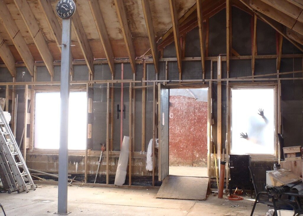 We are Weather tight! All Window Frames installed and