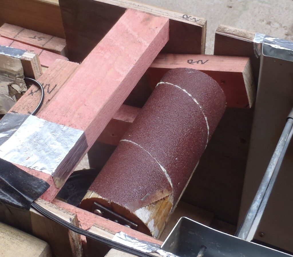 Replaced-sandpaper-on-drive-drums