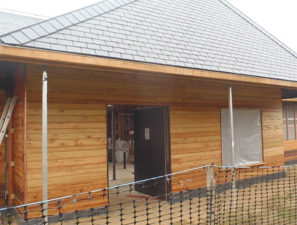 Front Porch Wall is Clad plus also Walls D and E too