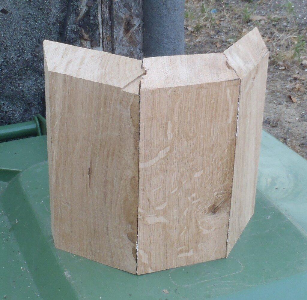 Oak Covers Created for Nine Outside Corners
