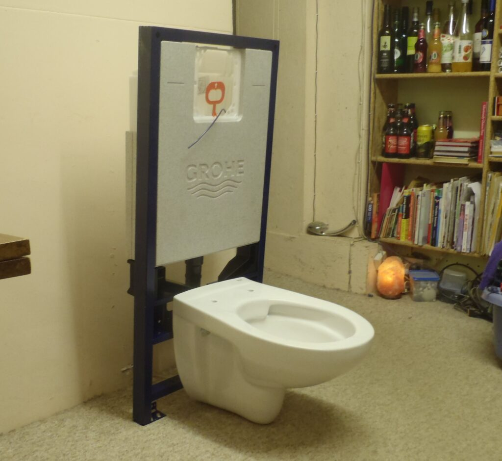 New Wall Hanging Toilet and Frame Arrives for Evaluation