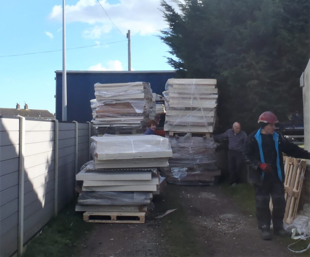 Insulation PU Foam Seconds Arrives on Forty Pallets!