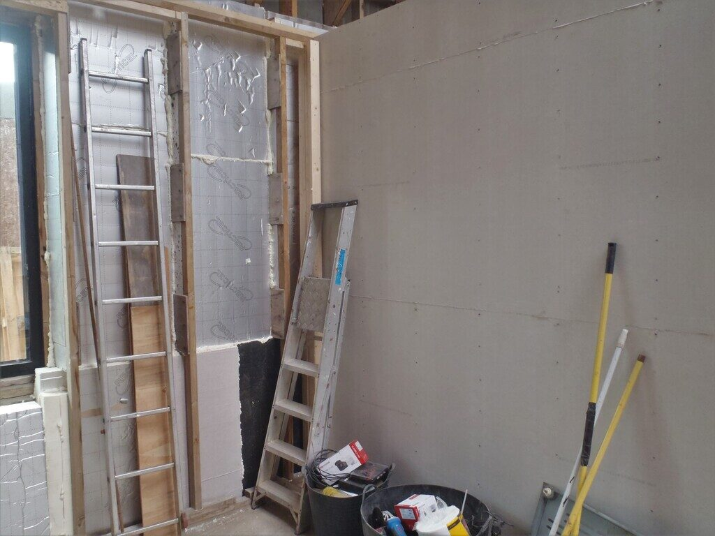 Utility Room reorganised and First Solid Wall built