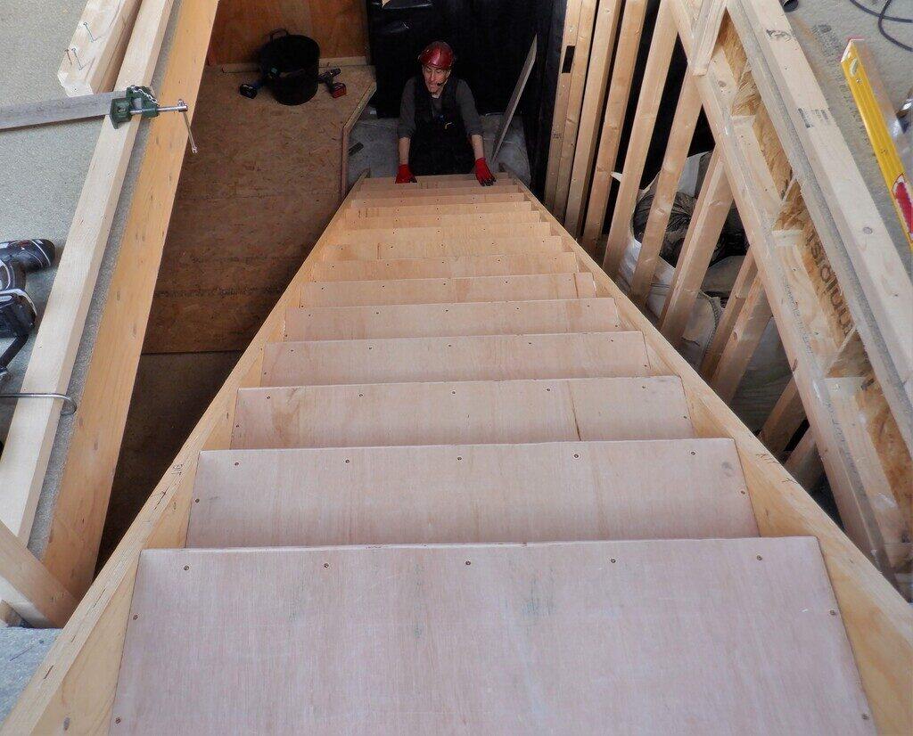 Staircase Designed, Parts Created and Fully Assembled