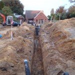Service trench completed