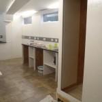 Kitchen Final Coat & Shelves Prepared