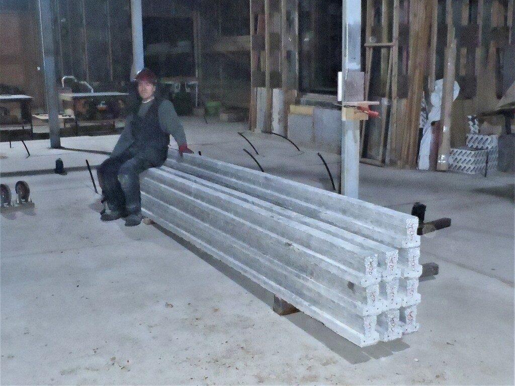 Ten Concrete Beams Arrives