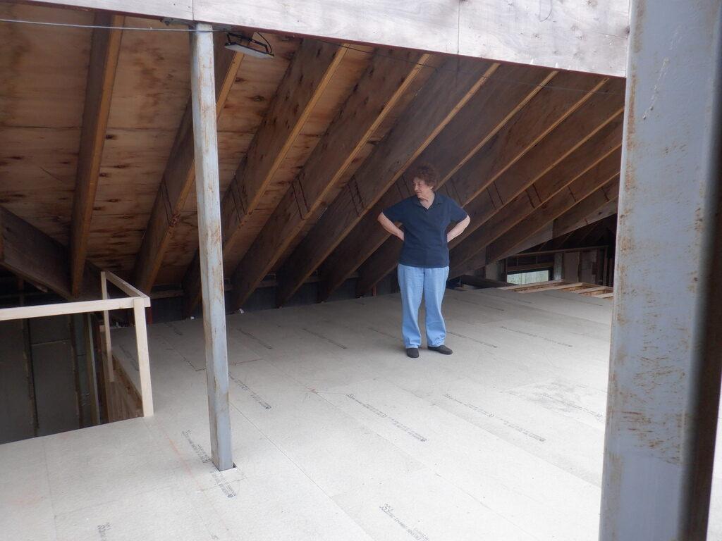 Third of First Floor Joists and Floorboards Built