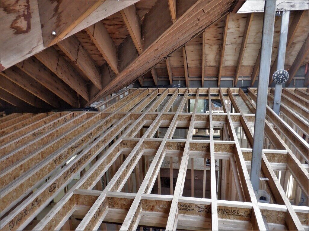 All of the Remaining Joists Up and Secured