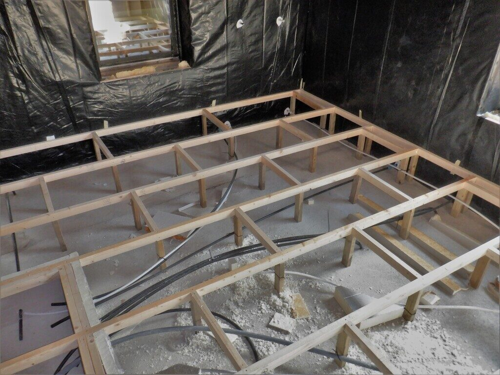 Started Work on Building Flooring Structure for Ground Floor Rooms