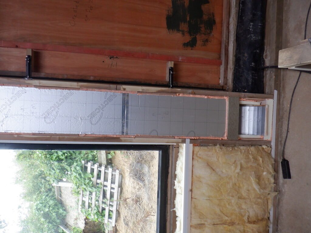 Conservatory Air Duct Built Inside Wall