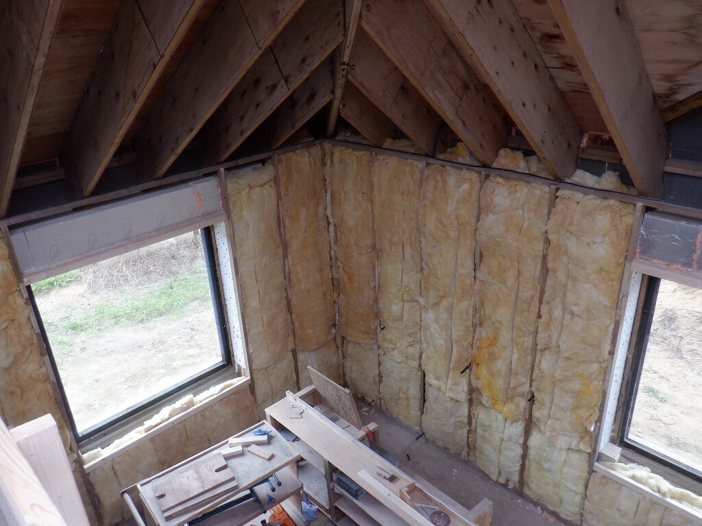 Glass Wool Fills the Air Space in Outer Walls