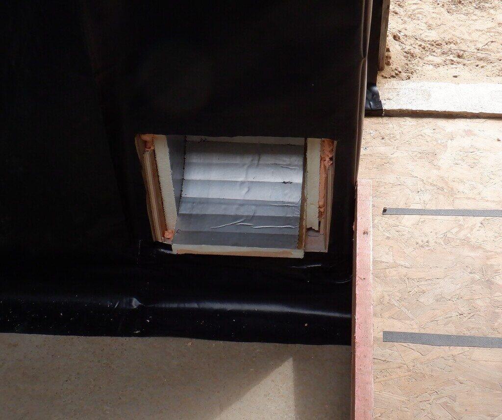 Vapour Barrier Plastic Membrane Installed (Part 1)