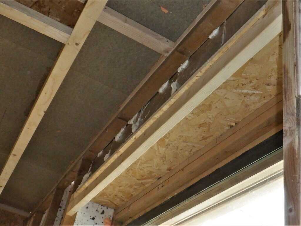 Extra Framework and Insulation Over Doors and Windows