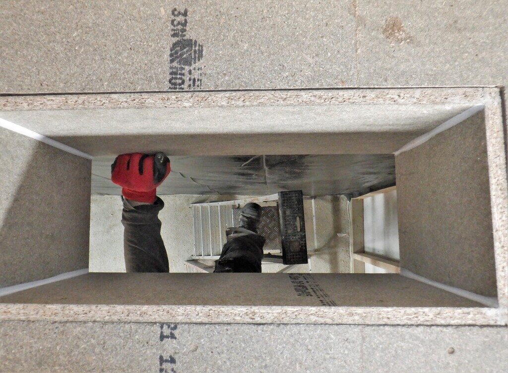 Air-duct-down-from-first-floor