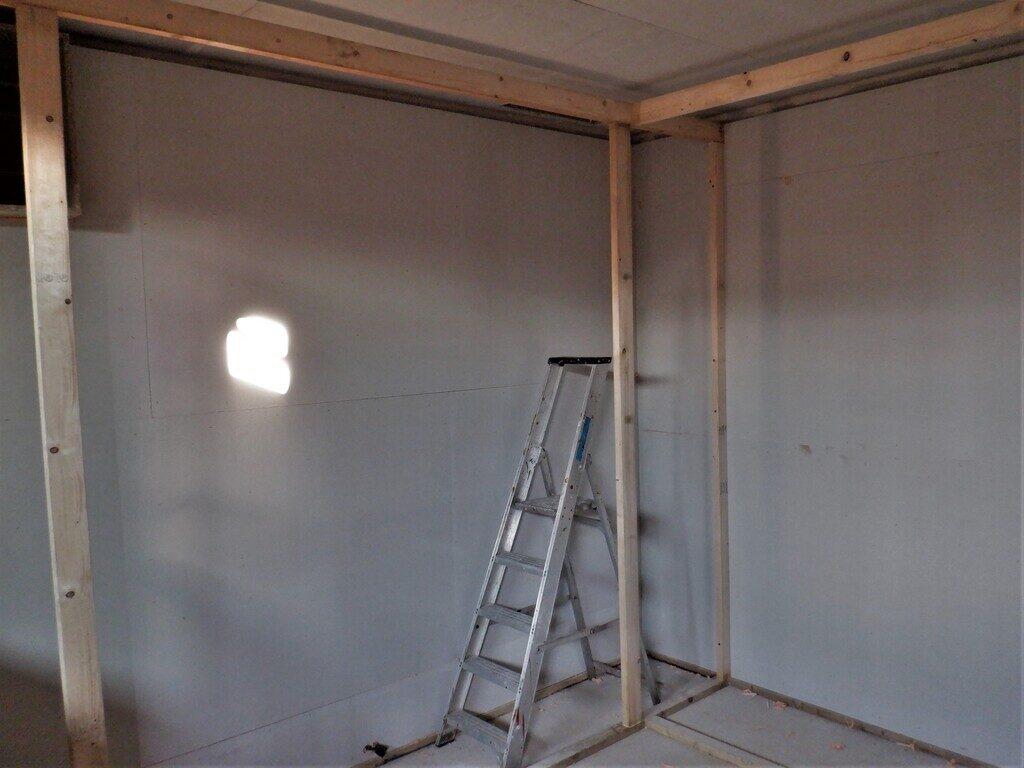 Cupboard-lined-and-basic-framework-errected-2