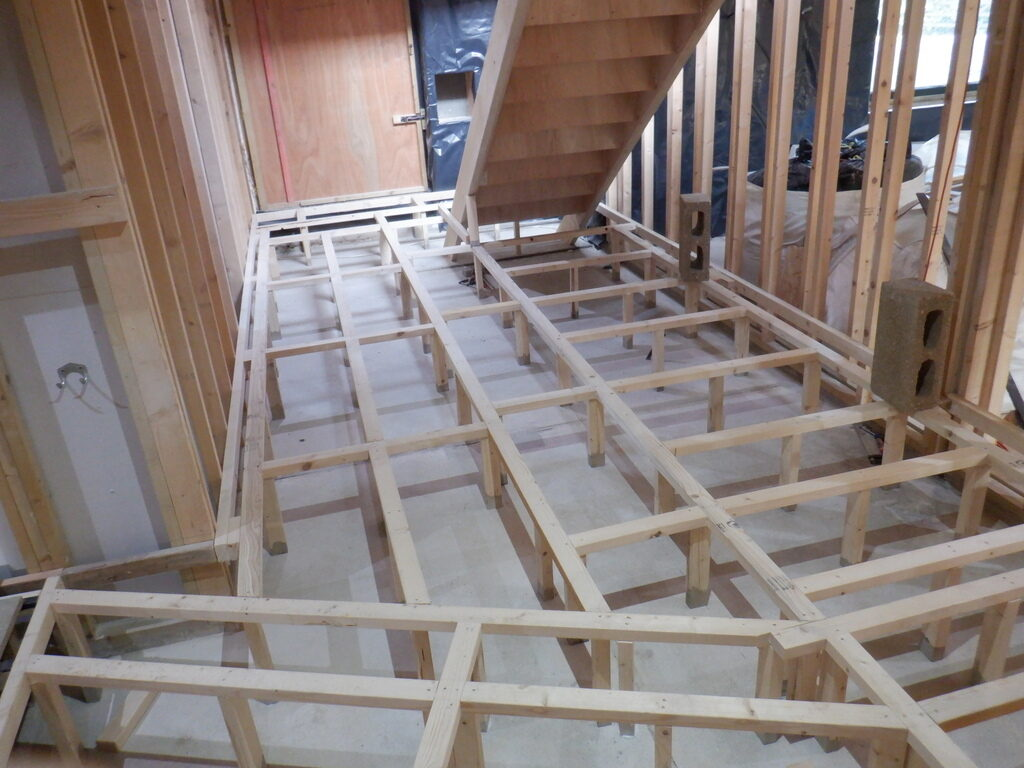 Finished Framework for Hallway Flooring
